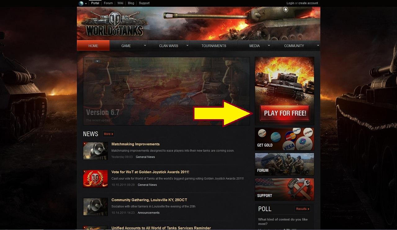 World of Tanks: how to register 13