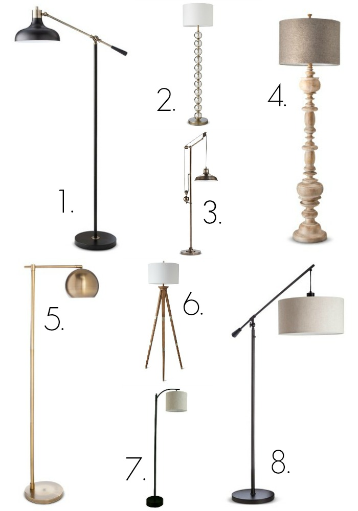 Target floor lamps. My Favorite Target Lighting from Thrifty Decor Chick