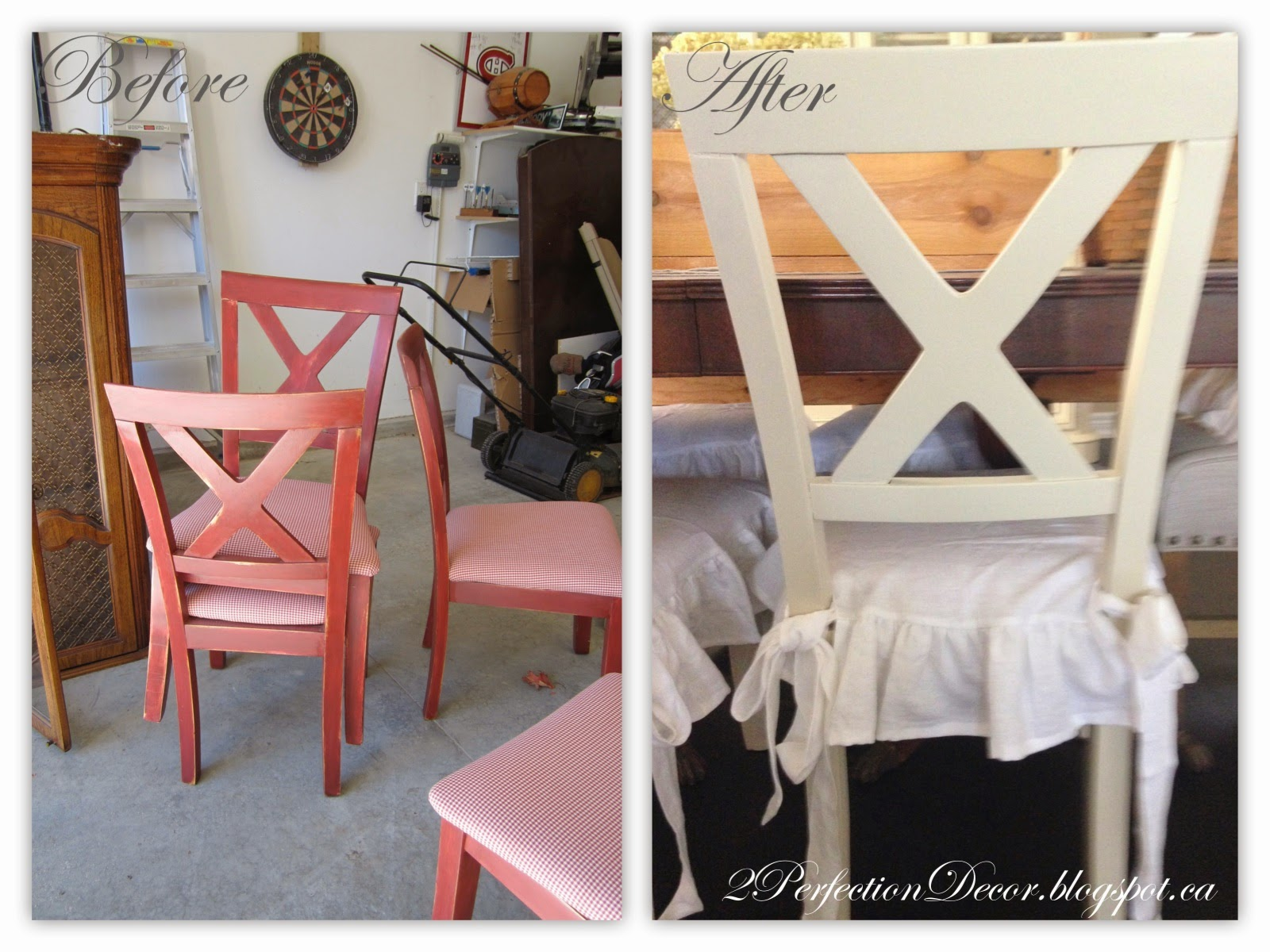 2Perfection Decor X back Dining chairs Makeover With white