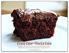 Most Popular ~ Crazy/Wacky Cake {No eggs, milk, butter)