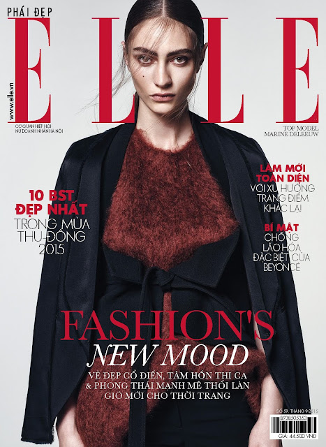 Model @ Marine Deleeuw for Elle Vietnam, September 2015