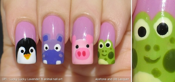 Cute animal nail art designs know how cute and playful cats are view images cute animals animal design nails prinsesfo Choice Image