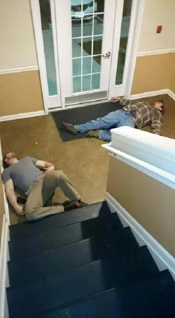 borrachos escalera
