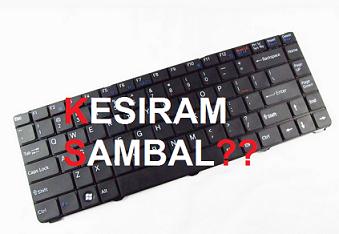 Cara Mengatasi Keyboard Laptop Yang Tersiram Saos Atau Sambal