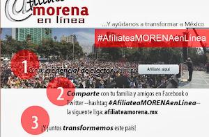 #AfíliateaMORENAEnLínea