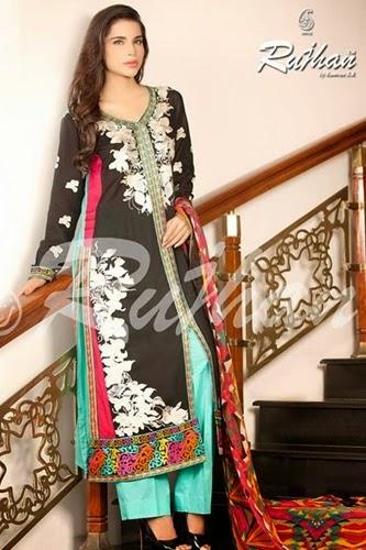 Rujhan Midsummer Semi Stitched-2014