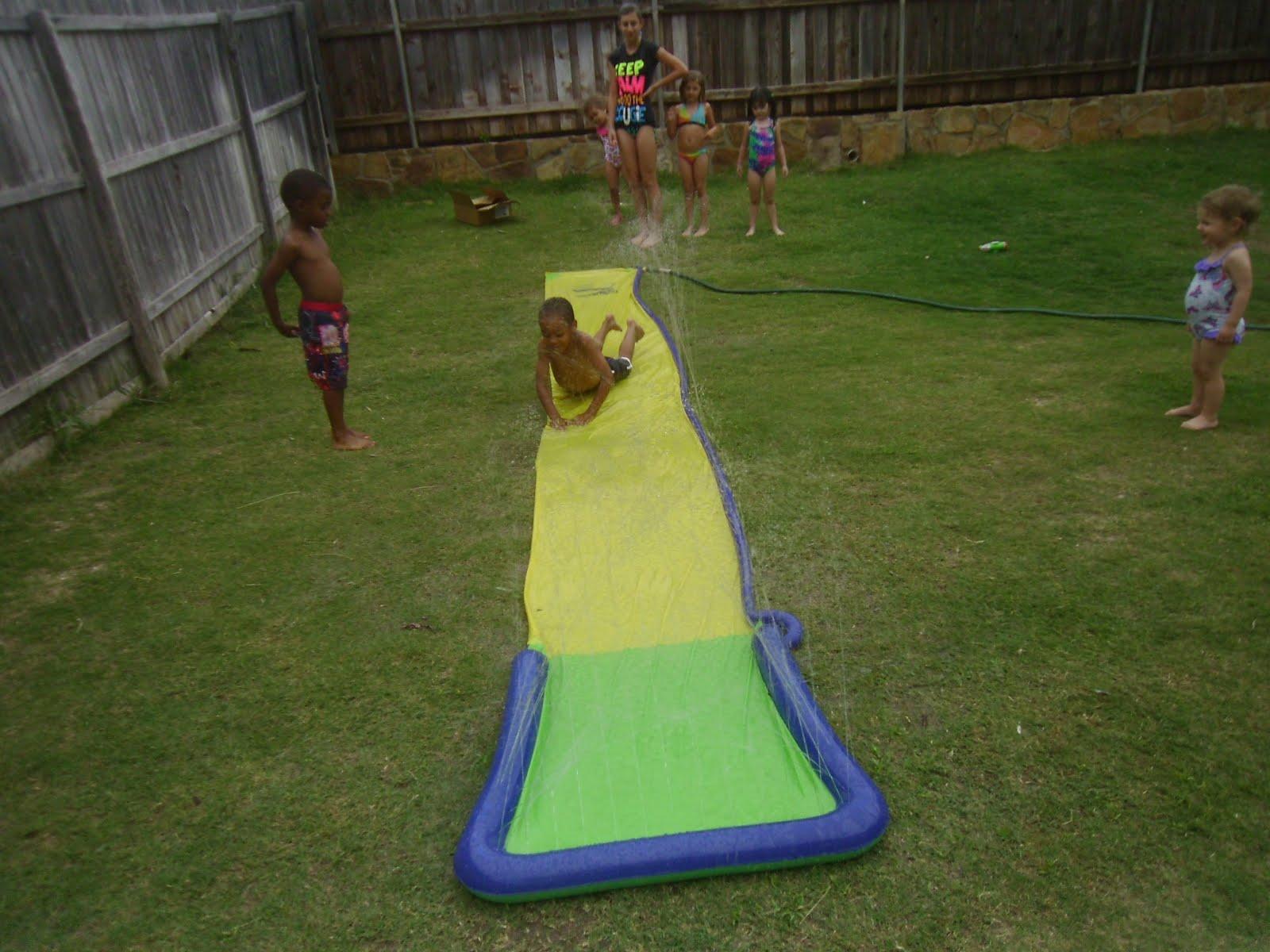 Big Backyard Daycare : The Big Texas Hill Family Daycare kids backyard slip n slide )