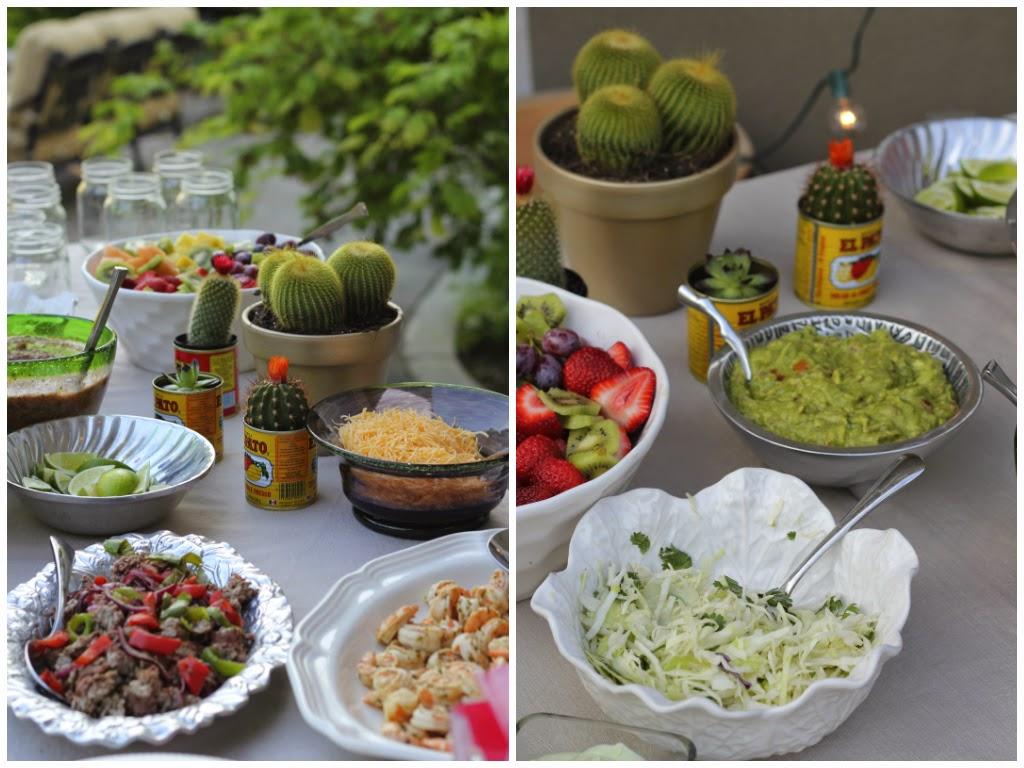Shrimp Tacos, Slaw, Carne Asada, Lime, Limes, Cactus, Salsa, Fruit