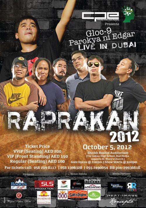 Gloc 9 and Parokya Ni Edgar Live in Dubai for RapRakan 2012