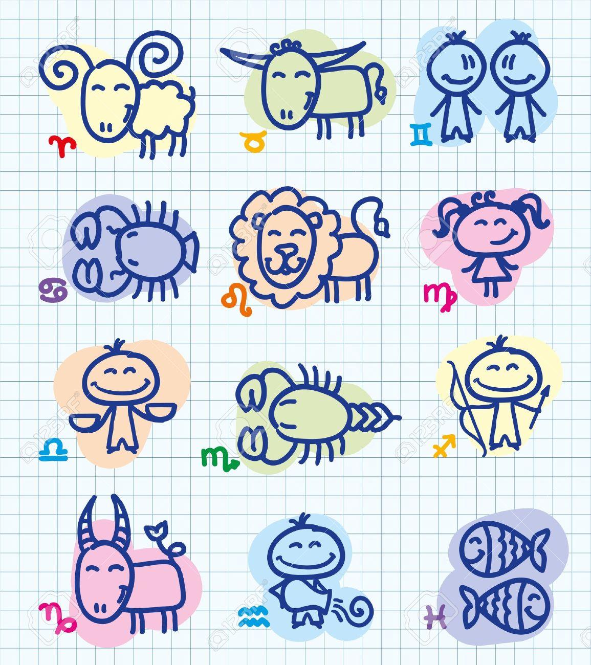 GAMBAR KARTUN ZODIAK LUCU DP Horoskop Funny Zodiacs Animasi