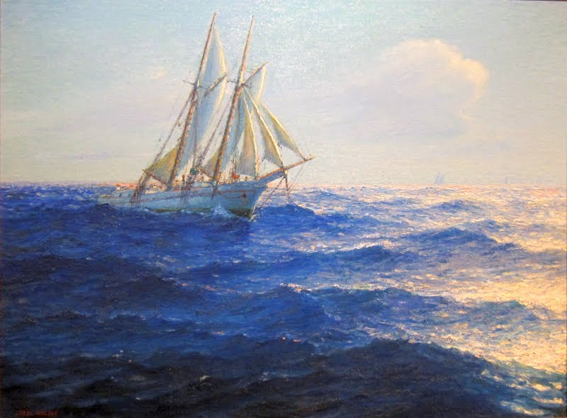 Racing Yachts, ca 1900. An artwork by Lionel Walden (1861-1933), ...