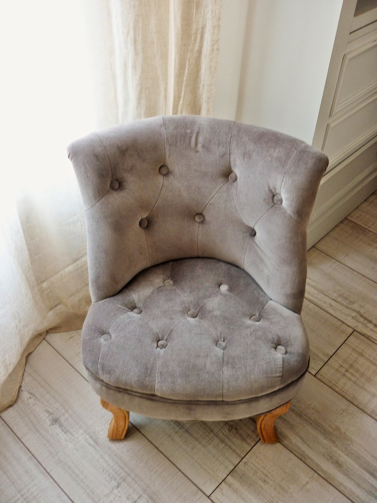 Fauteuil enfant - crapaud velours taupe - zodio
