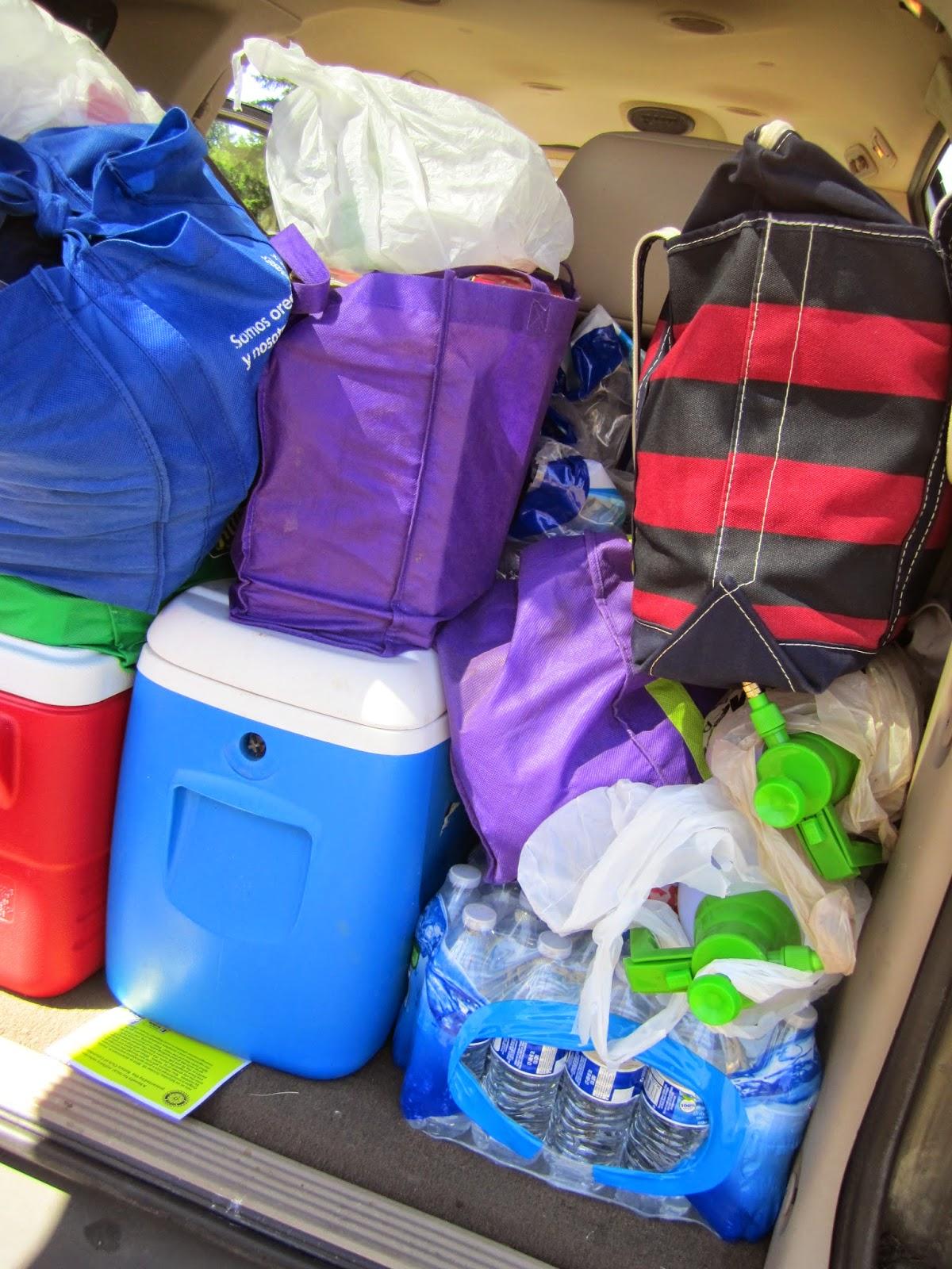Portland to Coast van supplies