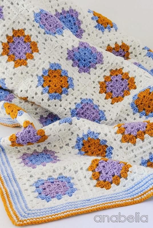 Crochet baby blanket by Anabelia