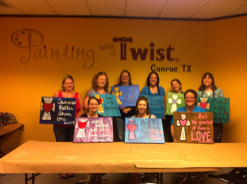 The davis family the best summer yet for Painting with a twist conroe