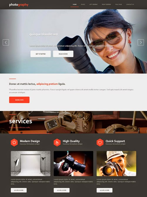Free download top best photography website templates helpers ways photography website template 1 pronofoot35fo Gallery