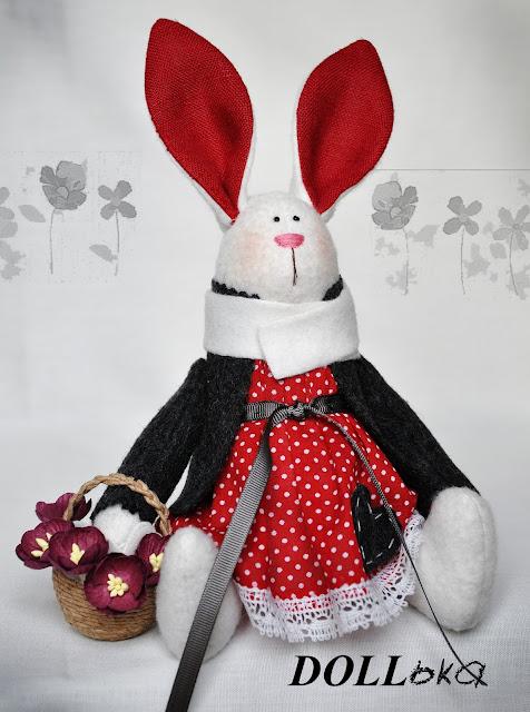 Зайка Маруся текстильная игрушка ручной работы