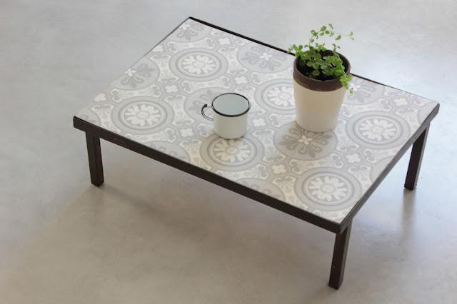 table basse fa on carreaux de ciment tutoriel gratuit. Black Bedroom Furniture Sets. Home Design Ideas