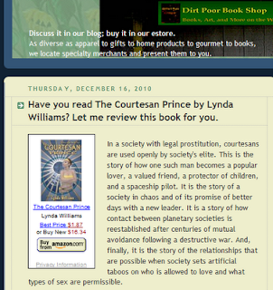 Courtesan Prince reviewed by Dirt Poor Bookstore