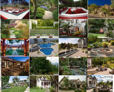 Fotos de jardin jardines para fachada de casa for Casa y jardin bazaar 2013