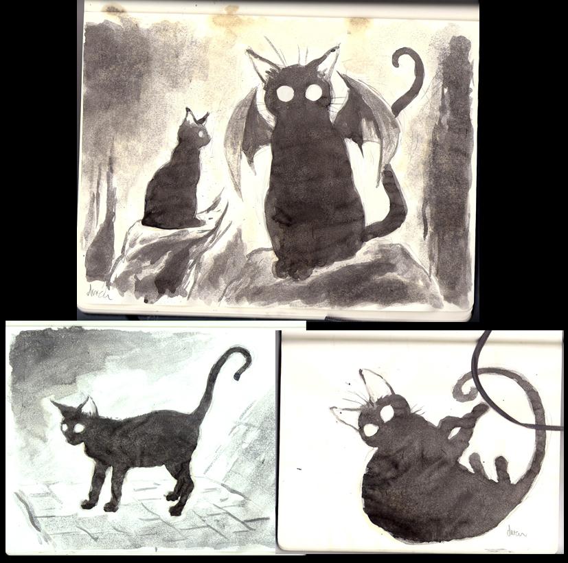 The Happy Undertaker Black Cat Ghosts