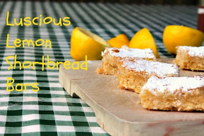 Luscious Lemon Shortbread Bars