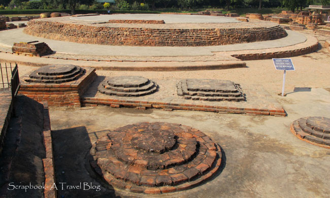 Dharmrajika Stupa ruins at Sarnath