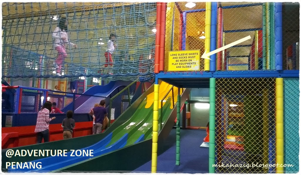 Mikahaziq penang with kids adventure zone indoor play for Indoor play slide
