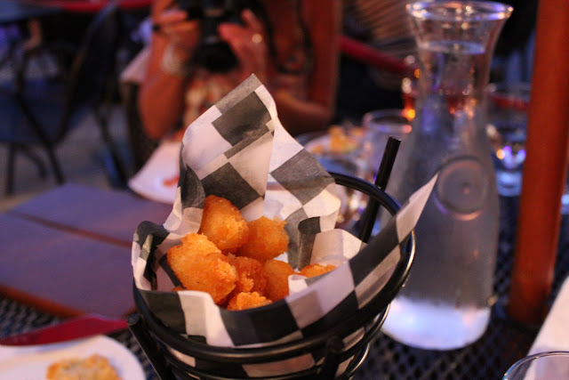 Tater tots at The Brahmin, Boston, Mass.