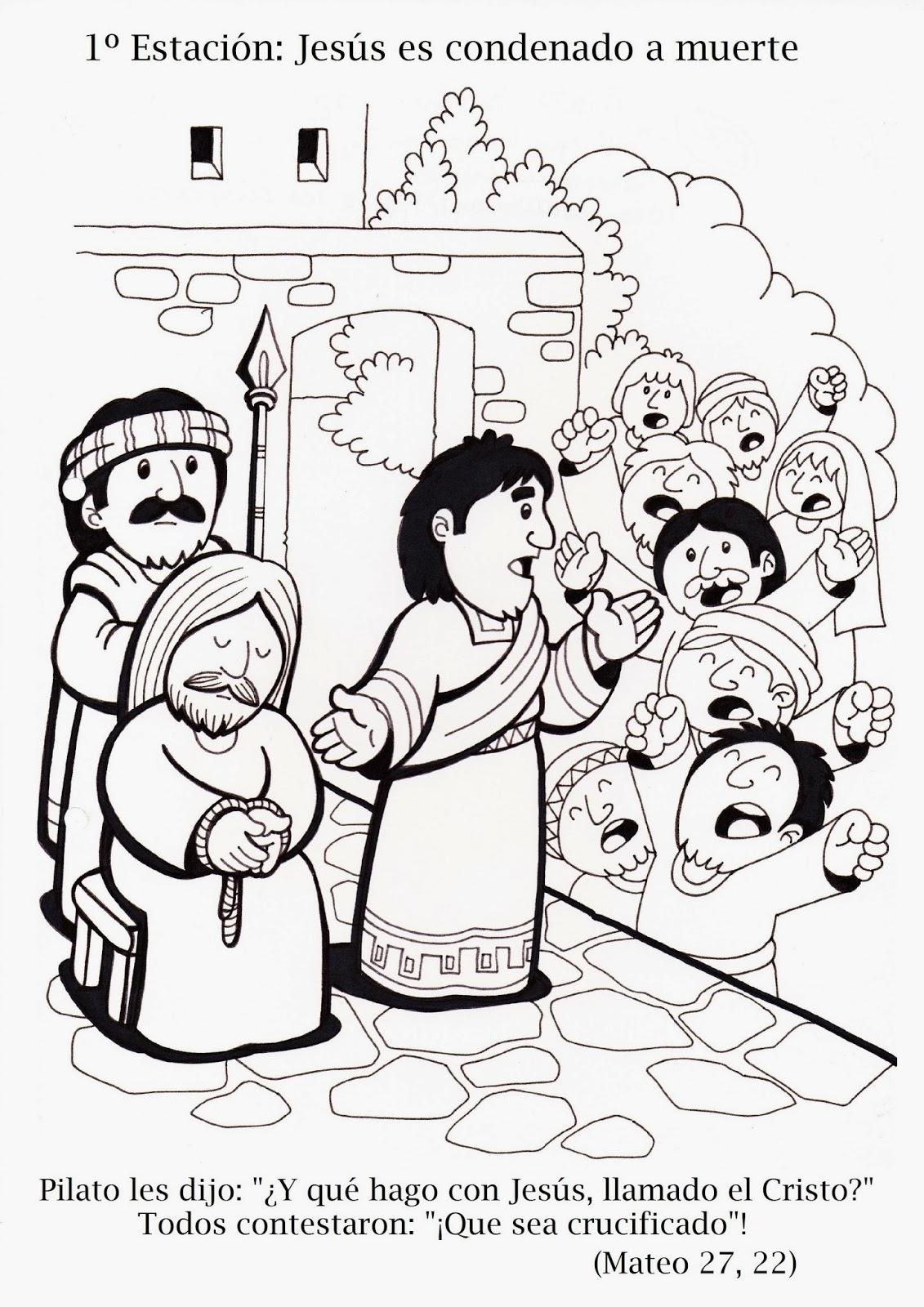 La Catequesis El blog de Sandra Va Crucis para colorear los