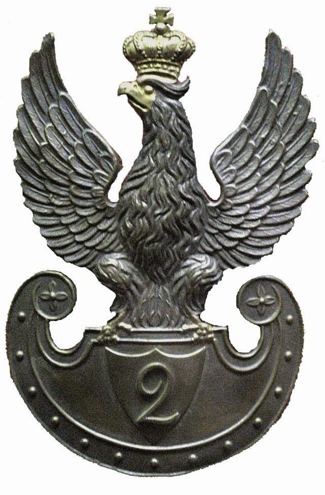 Orzeł 2 Pułku Piechoty Liniowej Królestwa Polskiego. Źródło wizerunku: Wikipedia.