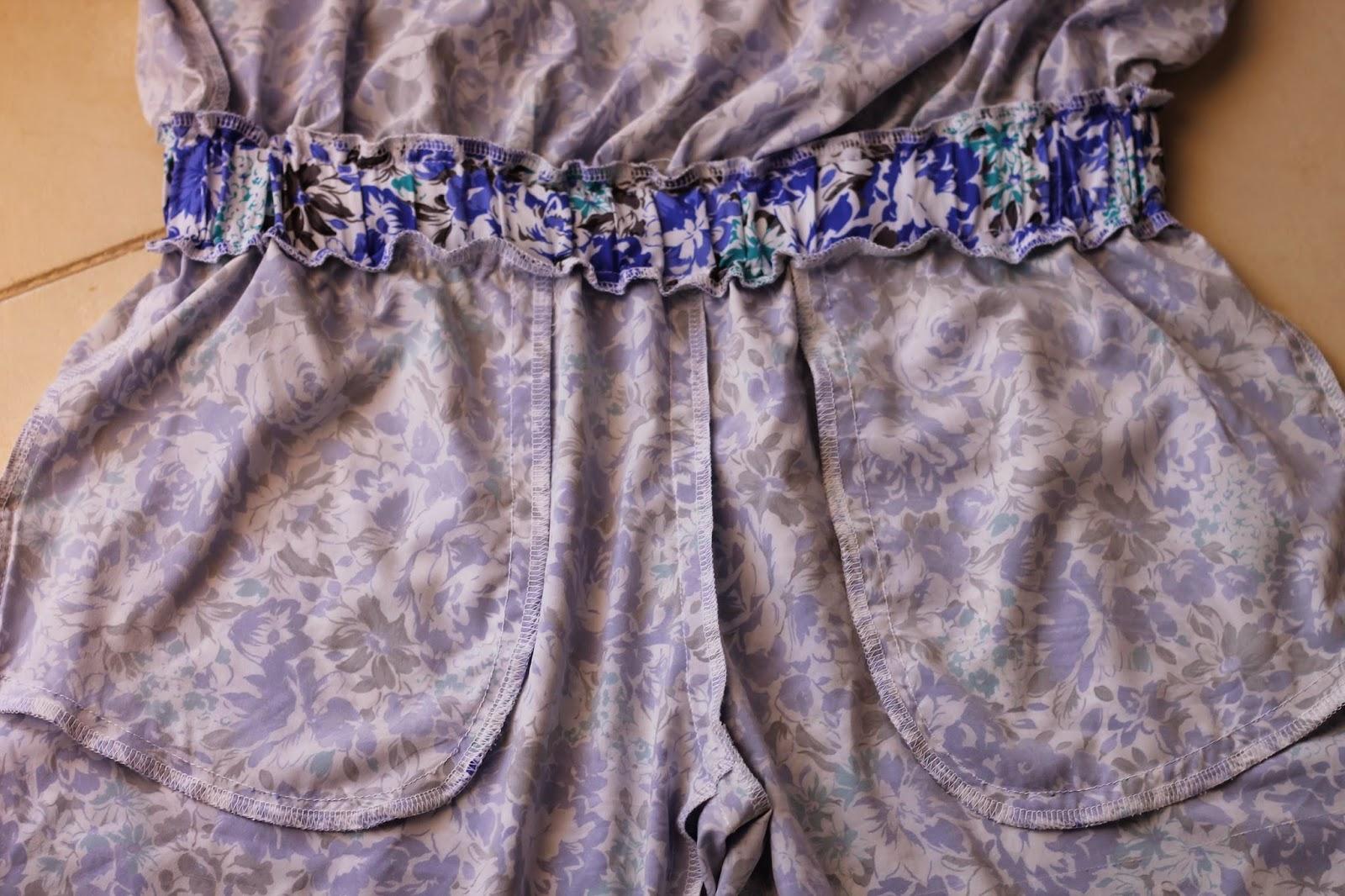 Вшить резинку на пояс платья