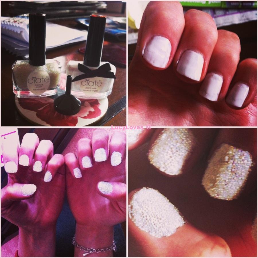 Ciate Bead Nails: Nails: Ciaté Caviar Manicure