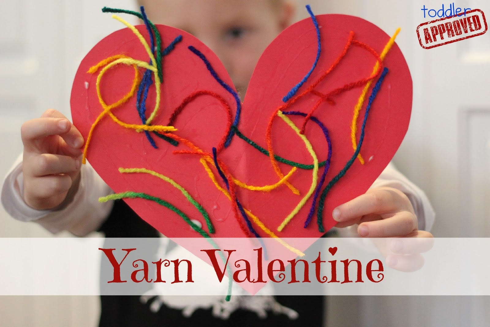 Easy valentine crafts for kindergarten - Simple Yarn Valentine