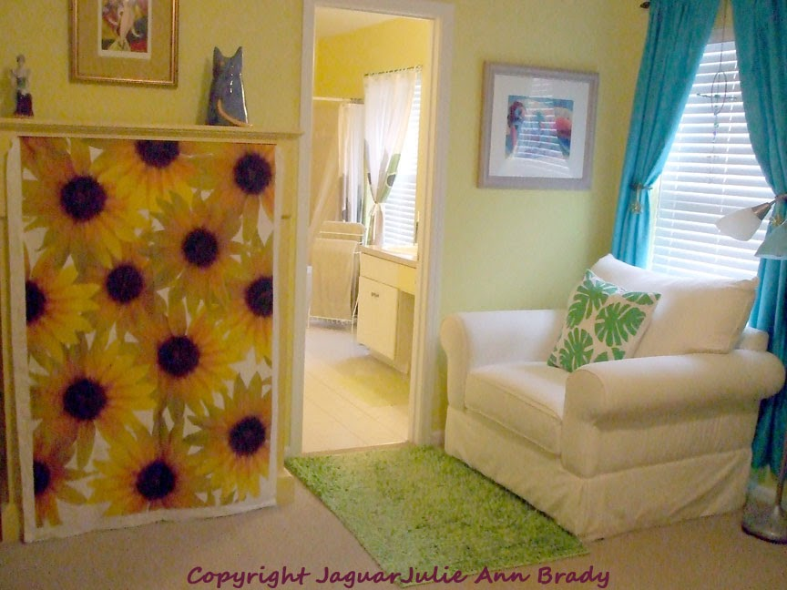 Bunch of Sunflowers Combed Cotton Fabric by JaguarJulieFlowers