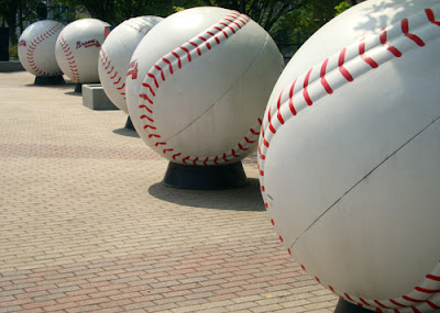 Giant Baseballs at Turner Field