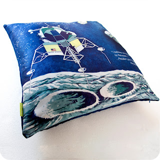 upcycled cushion apollo moon space