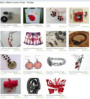 Etsy Treasury: Red or Black Licorice Drops - Yummy