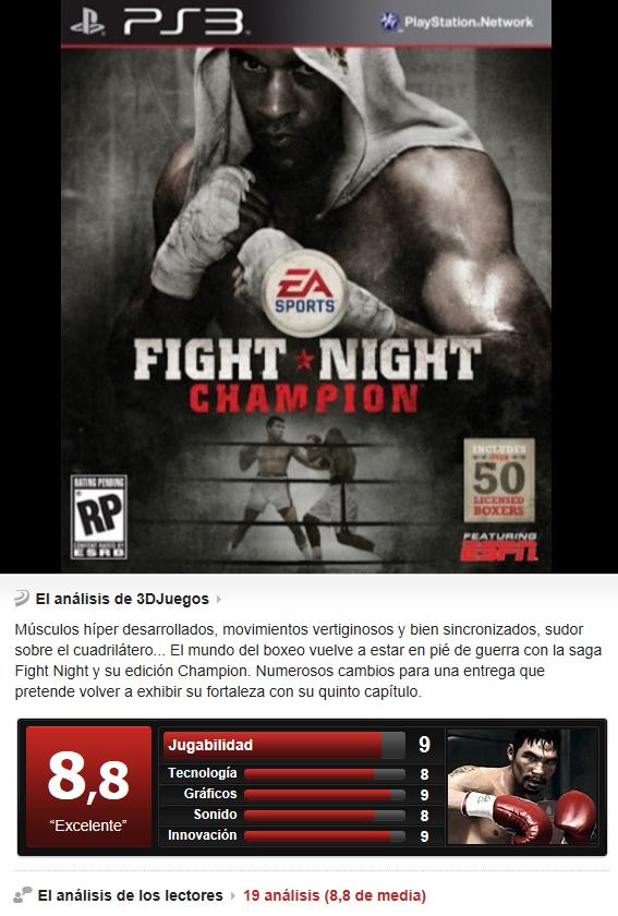Fight Night Champion -PS3-