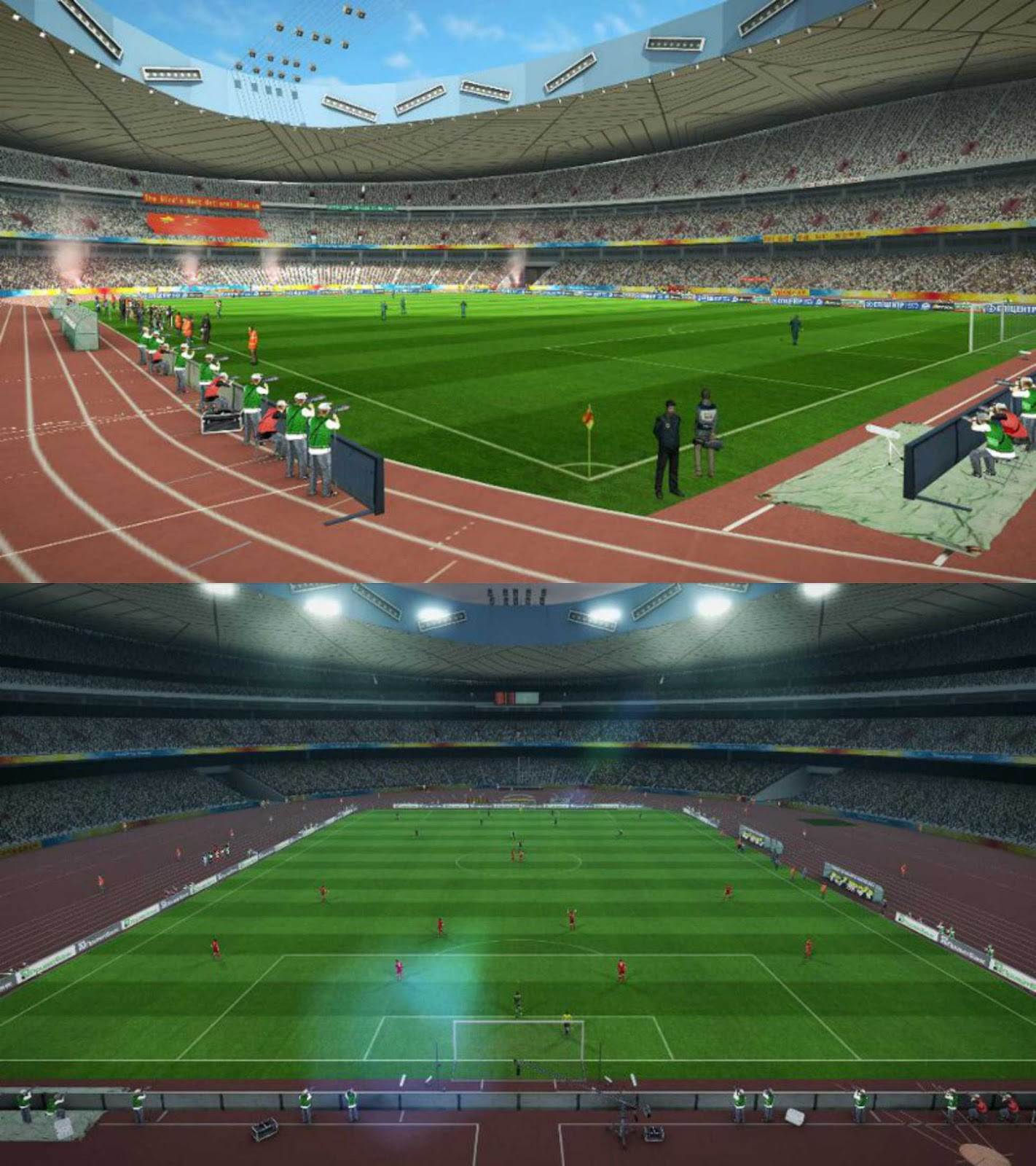 Pes modif beijing national stadium bird 39 s nest for Nest bird stadium