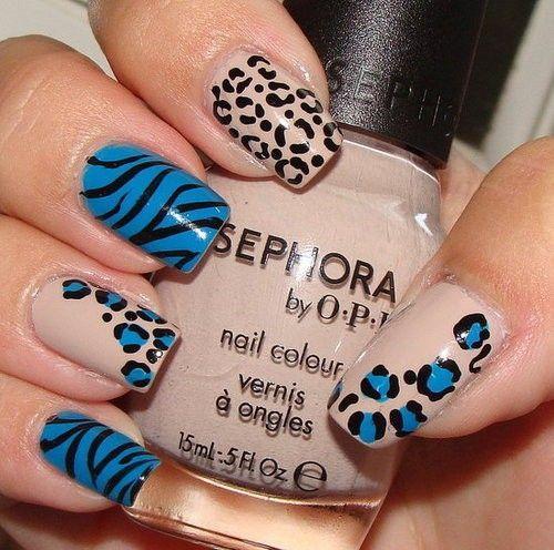 nail design animal print