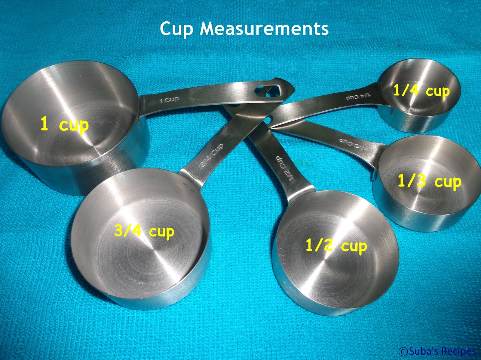 Suba 39 s recipes cup spoon measurements for 1 table spoon g