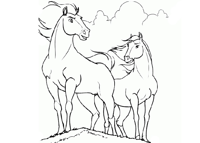 Cartoon Horse Coloring Pages Cartoon Coloring Pages