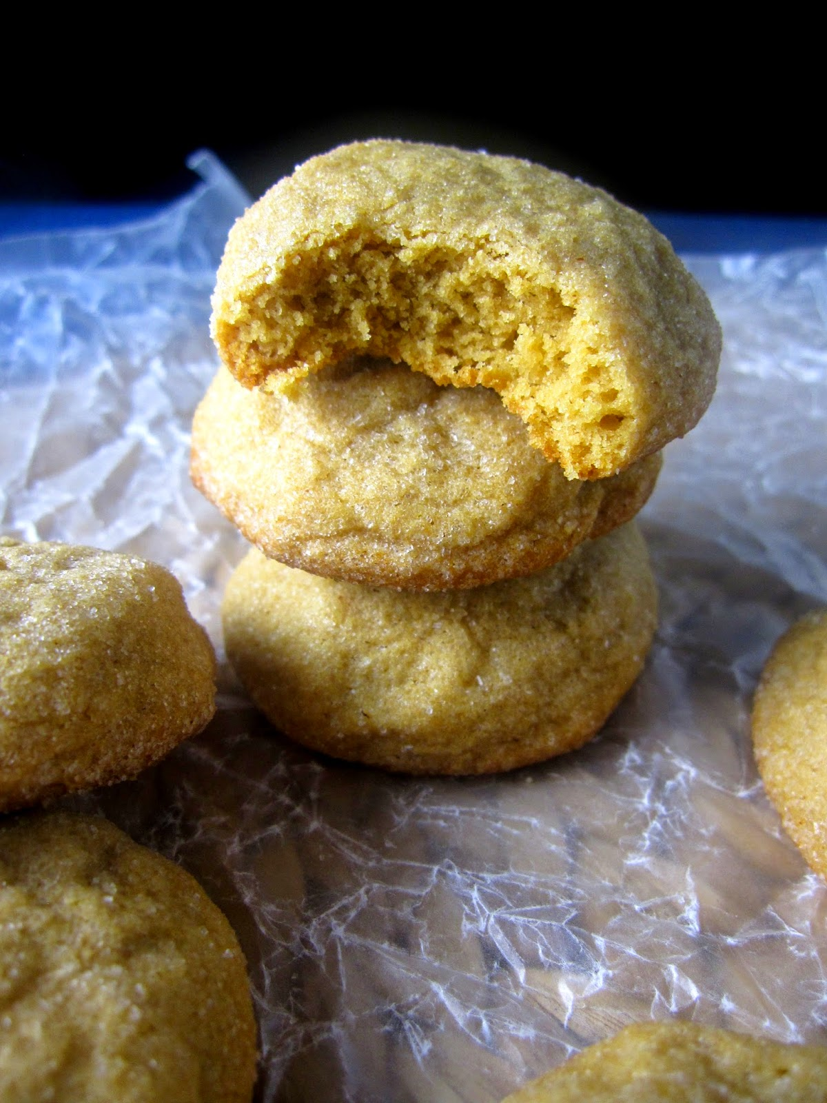 Fluffy Sugar Coated Peanut Butter Cookies