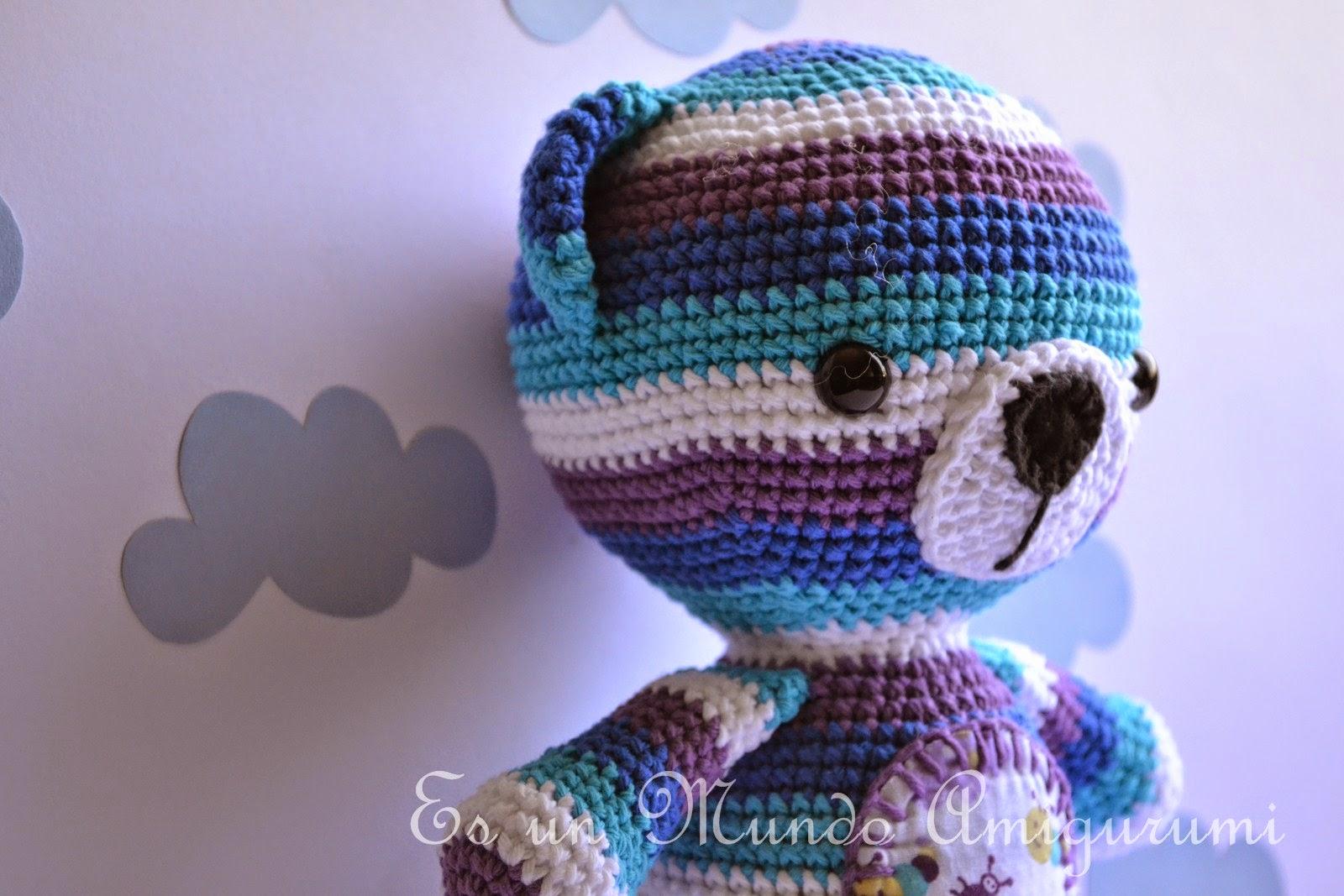 Encantador Patrón De Crochet Libre De Carenado Oso Viñeta - Manta de ...