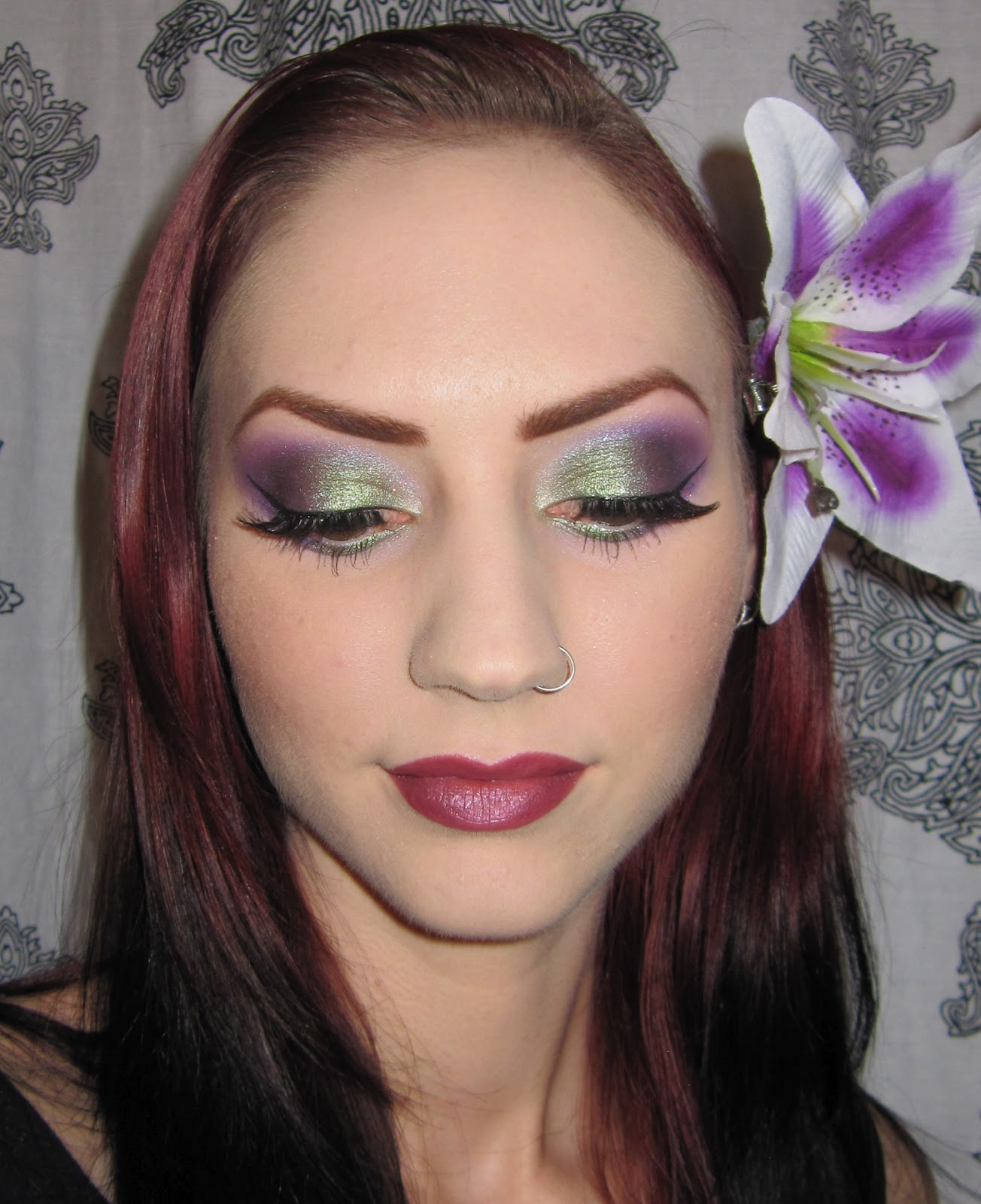 Glitter is my crack green and purple eye makeup look picture green and purple eye makeup look picture tutorial baditri Image collections