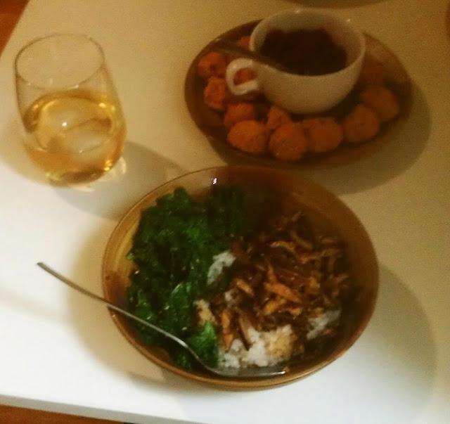 mushroom shichimi rice bowl