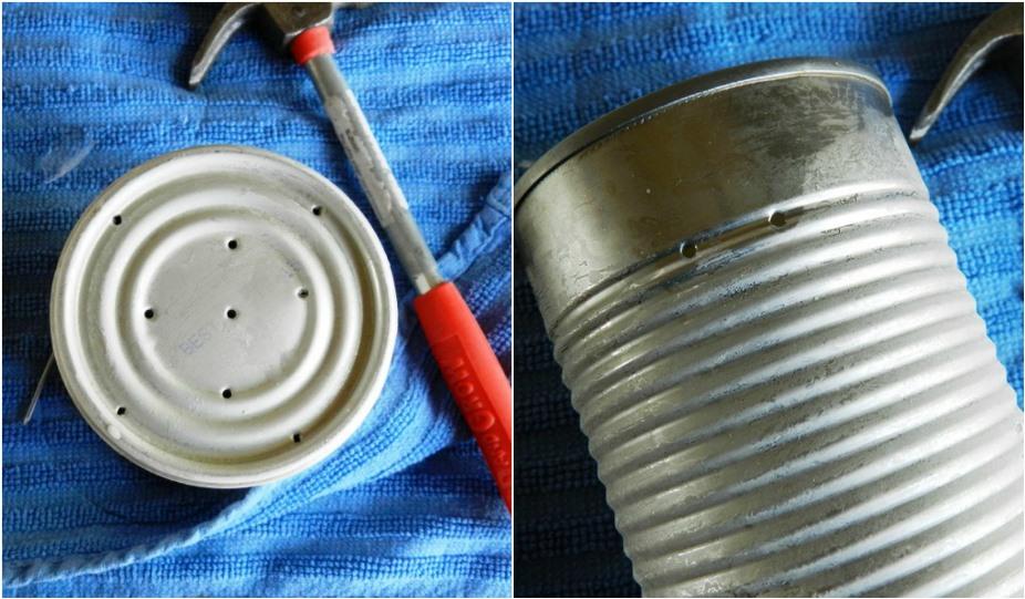 Vertical Tin Can Planters, Outdoor Living Decor: Grow Creative