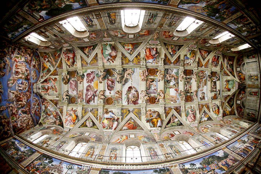 obras de miguel angel. frescos de Miguel Ángel.