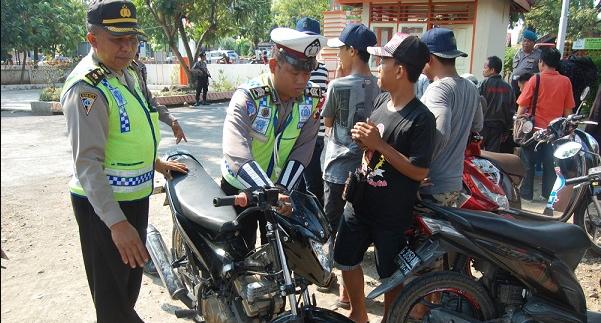 165 Personel Polres Pemalang Gelar Razia Bom Dan Senpi Jelang Pilkada